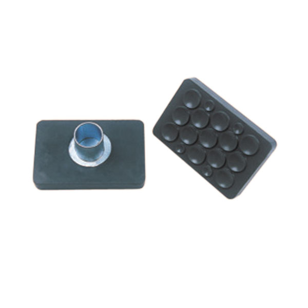 "2""X4""RUBBER  FOOT FOR LARGE AND SMALL TUBE BOLT ON"