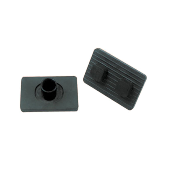 "2""X4""RUBBER LUGGED FOOT TUBE BOLT ON"