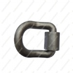 1 inch Forged Bent D-Ring w/ Weld-On Clip